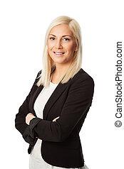 Attractive businesswoman in suit