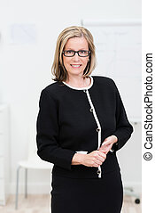 Attractive businesswoman wearing glasses