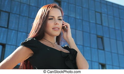 Bussines Woman On The Phone - Attractive Bussines Woman On...