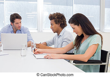 Attractive casual business people a
