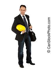 Attractive caucasian businessman