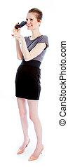 Attractive caucasian girl in her 30 shot in studio