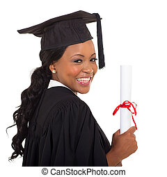 college graduate close up portrait