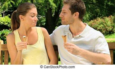 Attractive couple enjoying