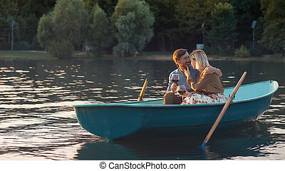 Attractive couple on a romantic date