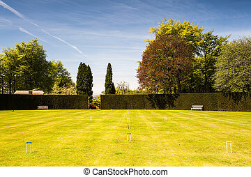 Attractive croquet course