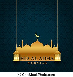 attractive eid al adha bakrid festival background