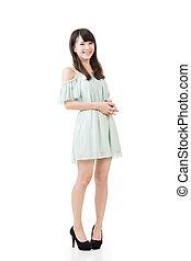 Attractive elegant asian woman