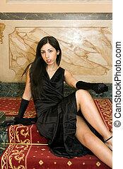 Attractive Elegant Woman Posing