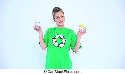 Attractive environmental activist