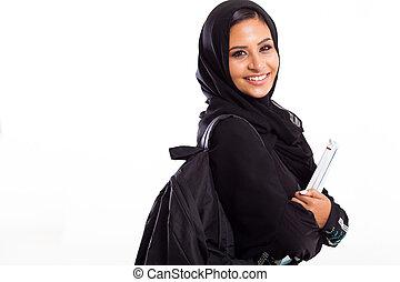 female Arabic college student