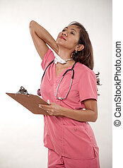 Attractive female asian nurse doctor