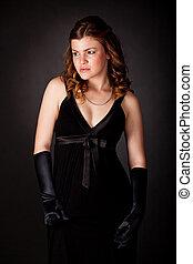 Attractive female model posing