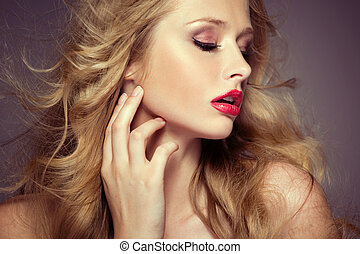 Attractive female model with pale complexion - Alluring...