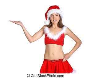 Attractive female Santa