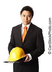 Attractive foreman