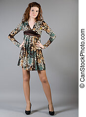 girl in a beautiful dress