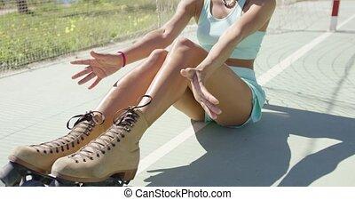 Attractive girl in summer