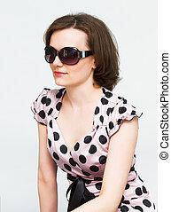 attractive girl in sunglasses