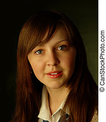 attractive girl - Portrait of the attractive girl with...
