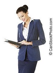 Attractive happy businesswoman