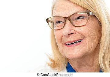 Attractive happy senior woman.
