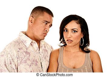 Attractive Hispanic Couple - Attractine Hispanic Couple on...