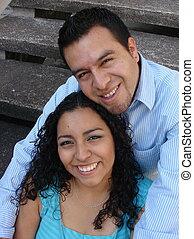 Attractive Hispanic couple
