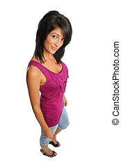 attractive hispanic woman