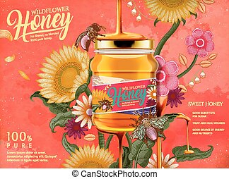 Attractive honey ads