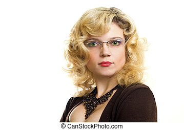 Attractive intelligent woman