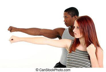 Attractive Interracial Couple - Attractive interracial...