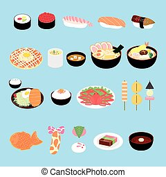 attractive Japan delicacy and snacks collection set