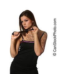 Attractive latino woman