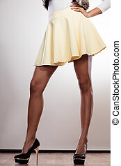 Attractive legs of woman