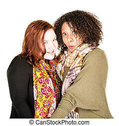 Attractive Lesbian Couple in Scarves
