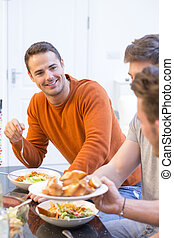 Attractive Male At Dinner Party - Shot of an attractive man...