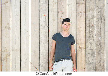 Attractive male fashion model