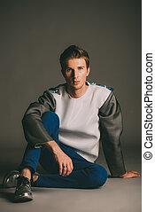 attractive male model