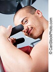 Attractive male training