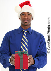 Attractive Man Giving Gift