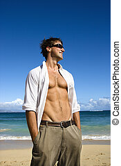 Attractive man. - Portrait of attractive man standing with...