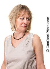 Woman Looking Over Shoulder