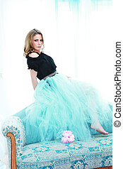 Attractive mature woman with tutu skirt