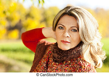Attractive middle aged woman - portrait