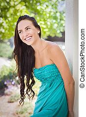 Attractive Mixed Race Girl Portrait