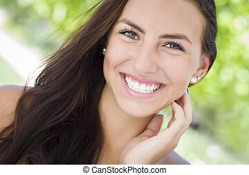 Attractive Mixed Race Girl Portrait