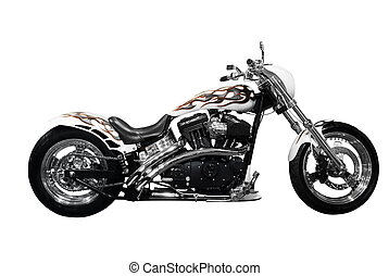 motorbike - attractive motorbike isolated
