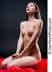 attractive naked woman