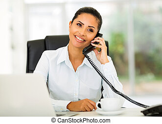 office worker talking on the phone